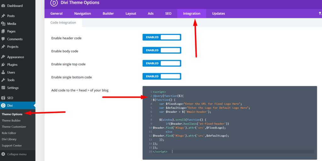 Divi Theme Options jquery code to change show title on hover divi portfolio