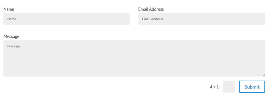 Divi Contact Form with labels on top of input fields