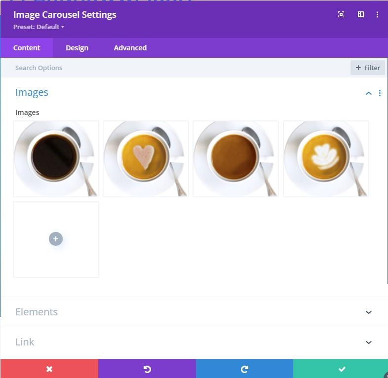 Divi image carousel plugin setting