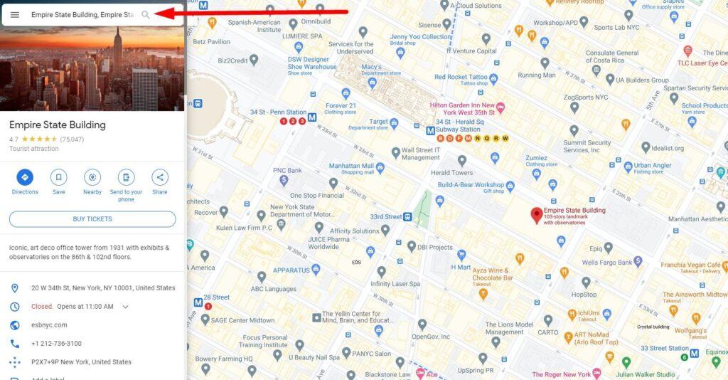 Google Maps Address Seach