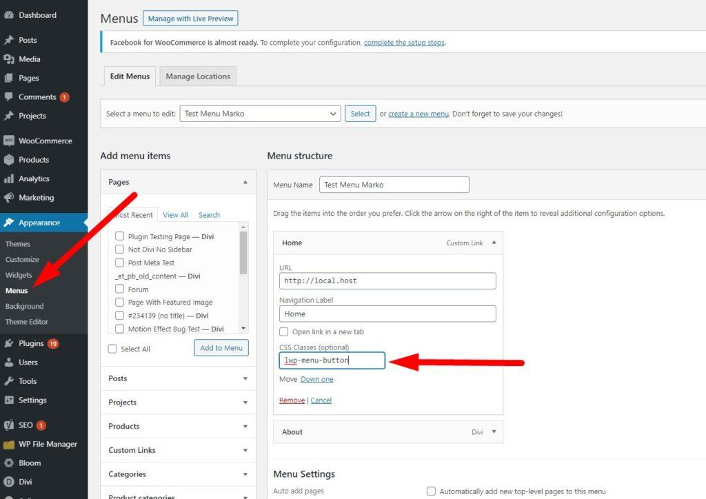 Applying custom css class to a menu item in WordPress