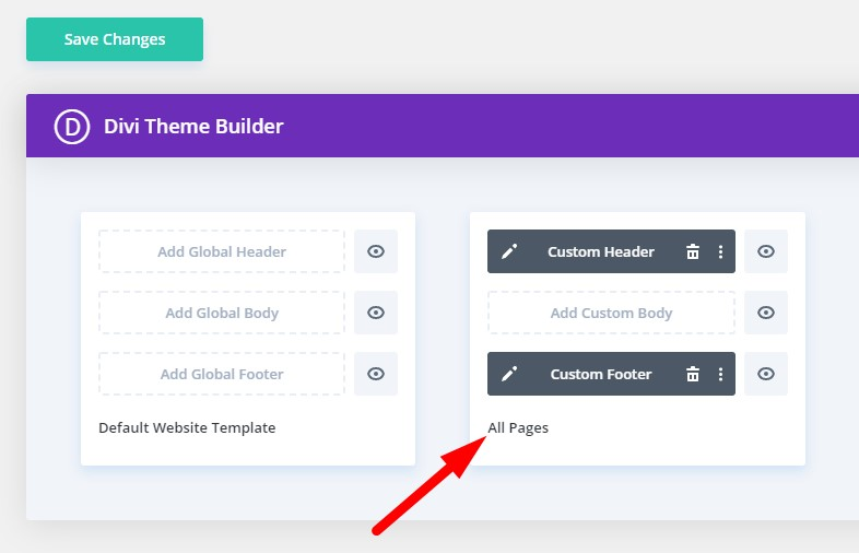 Template applied to all pages in Divi Theme Builder