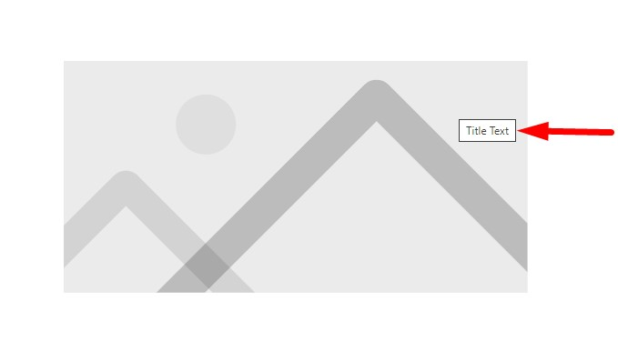 Image title text in tooltip on hover