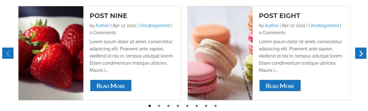 Divi post carousel image side style