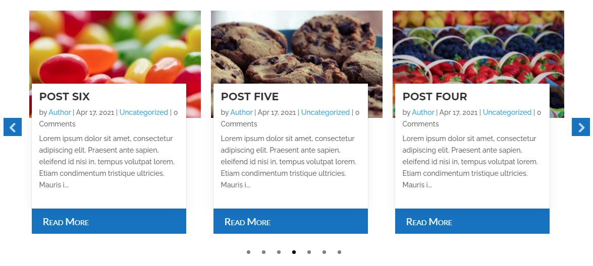 Divi post carousel overlap content style