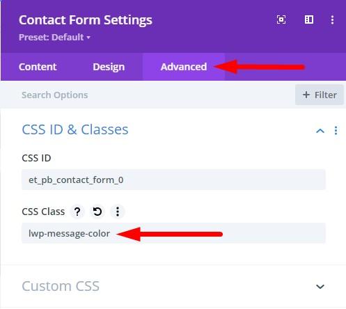Contact Form Module CSS Class